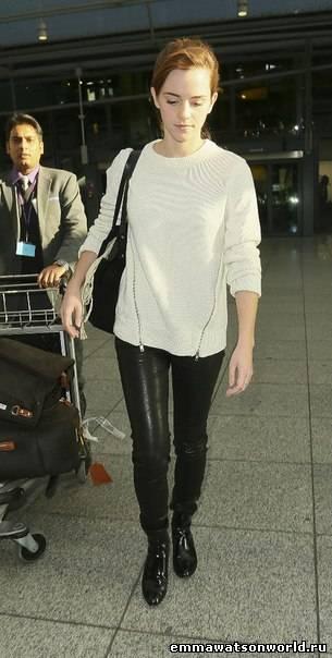 Emma Watson at the Heathrow