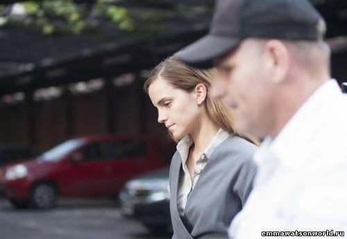 Эмма Уотсон на сьемках нового фильма