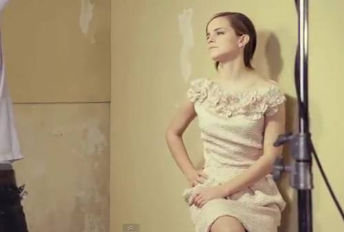 Видео с Эммой Уотсон для журнала Glamour UK 2012
