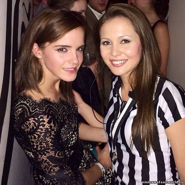 Emma Watson на матче в Лондоне