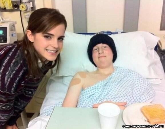 Эмма Уотсон посетила госпиталь