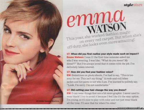 Интервью Эммы Уотсон для Seventeen Magazine